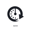 black quick isolated vector icon. simple element illustration from startup concept vector icons. quick editable logo symbol design on white background. can be use for web and mobile