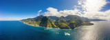 Beautiful mountain landscape of Madeira island, Portugal. Aerial panorama view.