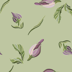 Fototapeta Inspiracje na wiosnę Flowers, spring, watercolor. Seamless pattern. Vector illustration.