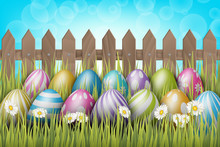 Easter Background With Realist...