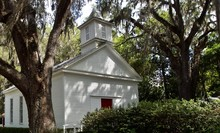 A White Country Church In The Woods