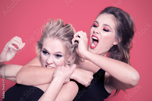 Fototapeta Girls fight