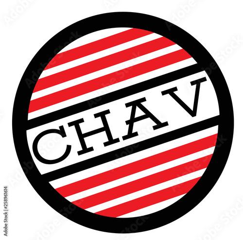 CHAV stamp on white Canvas Print