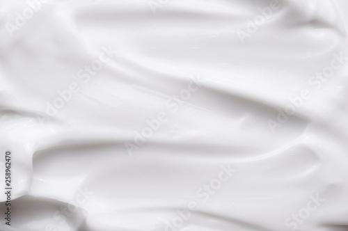 Fotobehang Fractal waves White texture of cosmetic body care cream background