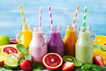 Summer Colorful Fruit Smoothie...