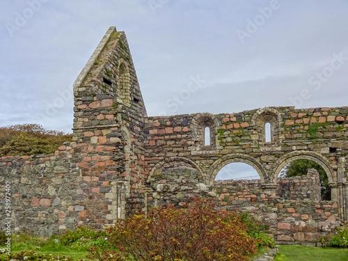 Ruinen des Nonnenklosters Iona nunnery Fototapet