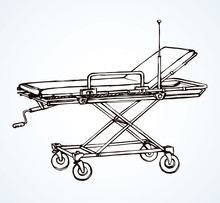 Stretcher. Vector Drawing