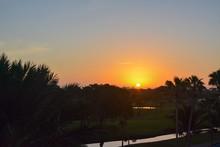 Sunrise Over A Florida Gulf Co...