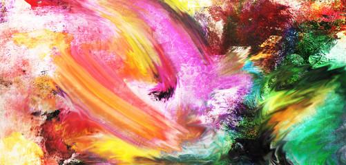 malarstwo uliczne abstrakcyjne szarfy poziome