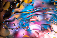 Abstract Colorful Liquid Water...
