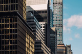 Fototapeta Nowy Jork - Close-up view of 432 Park Avenue Condominiums and modern skyscrapers in Midtown Manhattan New York City