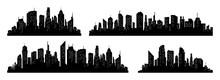 City Silhouette Vector Set. Pa...