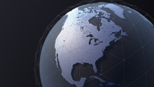 3D Earth Illustration Focused On The United States, Canada And Mexico