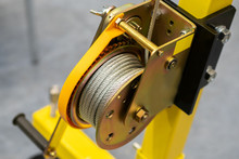 Yellow Drum Winch. Hand Winch....