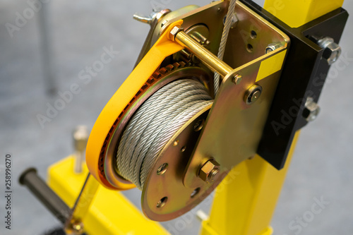 Yellow drum winch Canvas