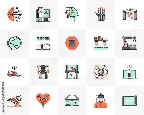 Fotografia, Obraz  Future Technology Futuro Next Icons Pack