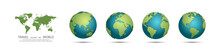 Earth Globes Collection. Set O...