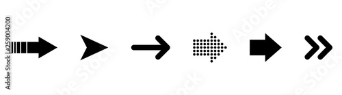 Obraz Set of black vector arrows. Arrows vector collection - fototapety do salonu