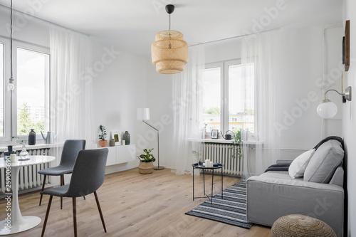 Obraz Cozy apartment with sofa - fototapety do salonu