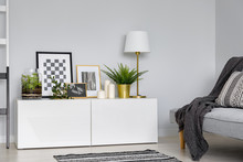 Simple Sideboard And Sofa