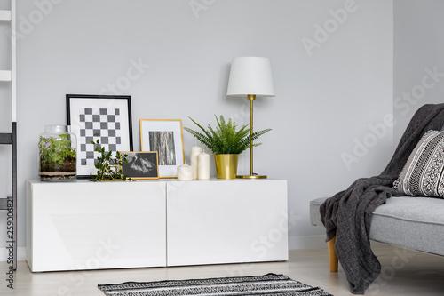 Simple sideboard and sofa Tapéta, Fotótapéta