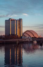 Glasgow Scotland SEC Centre At Pacific Quay.
