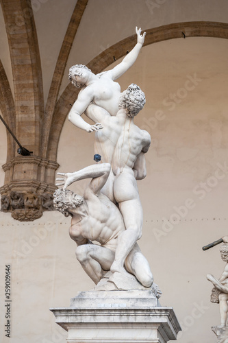The Kidnapping of the Sabine Women statue Florence  Piazza della Signoria Wallpaper Mural