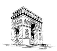 Sketch Of Arc De Triomphe In P...