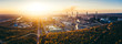 canvas print picture - industrial landscape with heavy pollution produced by a large factory
