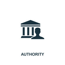Authority Icon. Creative Eleme...