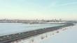 KAZAN, RUSSIA. 16-03-2019: A view on the centre of Kazan. Kremlin and Kul Sharif Sights. Winter season