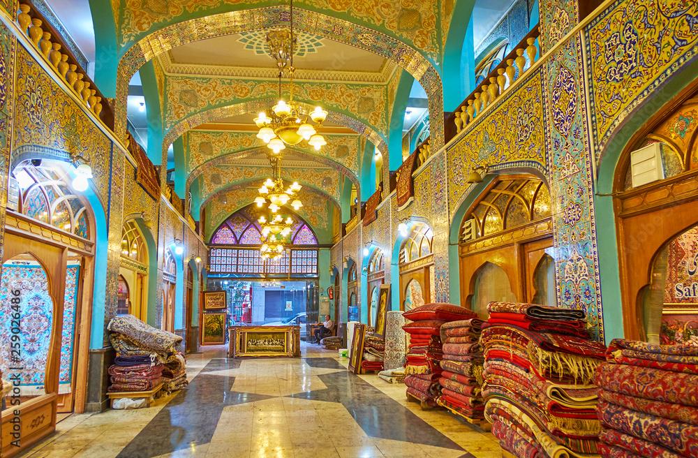 Fototapety, obrazy: The old carpet market in Tehran, Iran