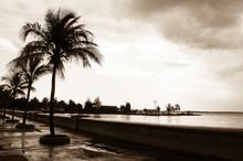 Promenade Of Santiago De Cuba After A Thunderstorm