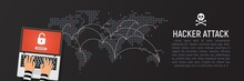 Global Hacker Attack World Map...