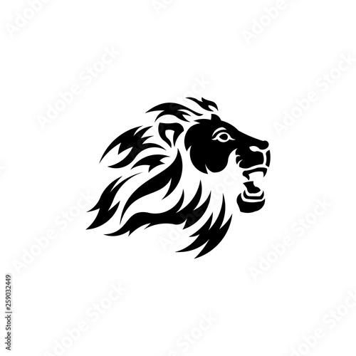 Fototapety, obrazy: Lion head. Logotype of vector template. inspiration logo lion head