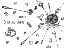 Levitating Chocolate Fruit Fondue