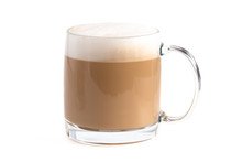 Latte Coffee On A White Background