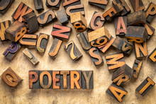 Poetry Word Abstract In Wood T...