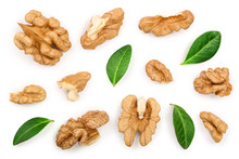 Walnuts With Leaf Isolated On ...