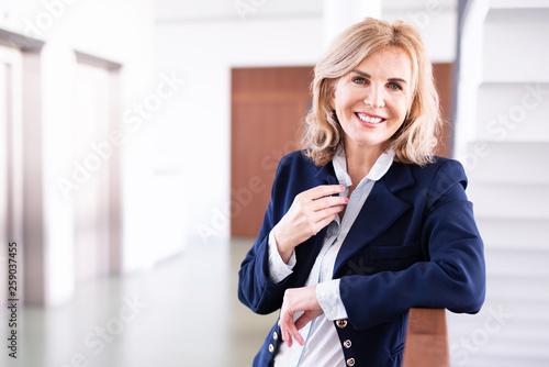 Obraz na plátně Porträt einer erfolgreichen Geschäftsfrau