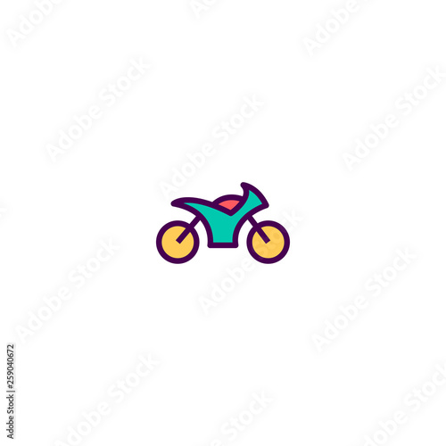 Motorcycle icon design. Transportation icon vector design Fototapete