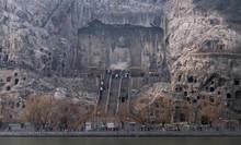 Chinese Buddhist Monument Longmen Grottoes.