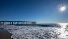 Wide View Of Long Pier At The ...