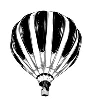 Hand Drawn Sketch Of Hot Air B...