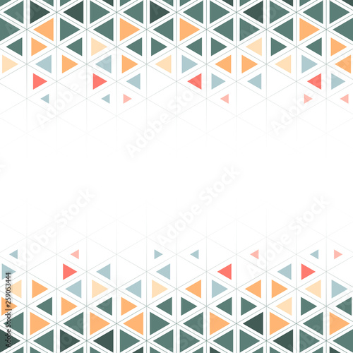 Colorful geometric triangle pattern