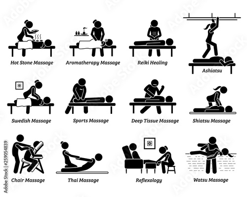 Type of massages and therapies Wallpaper Mural