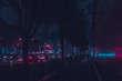 Leinwanddruck Bild - NEON City Traffic