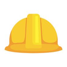 Construction Helmet Protection Icon