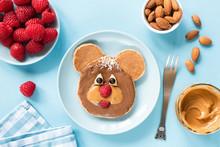 Cute Funny Pancake Food Art Fo...