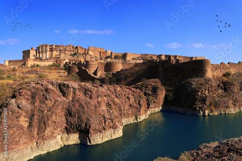 Stampa su Tela Mehrangarh Fort with Lake View in Jodhpur, Rajasthan, India